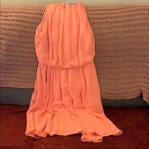 Francesca's coral mini dress brand new size large